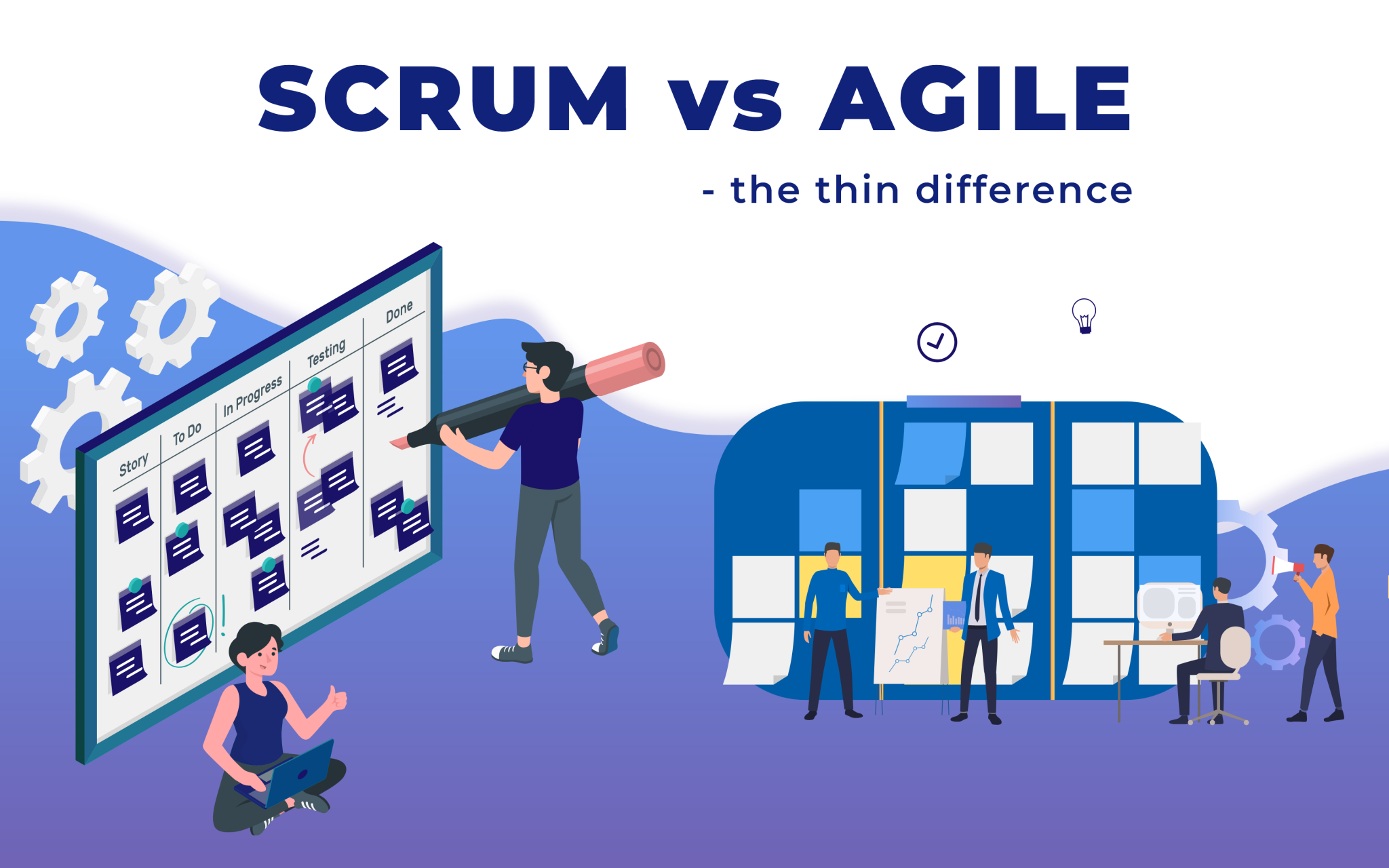 Scrum vs Agile – the thin line of difference